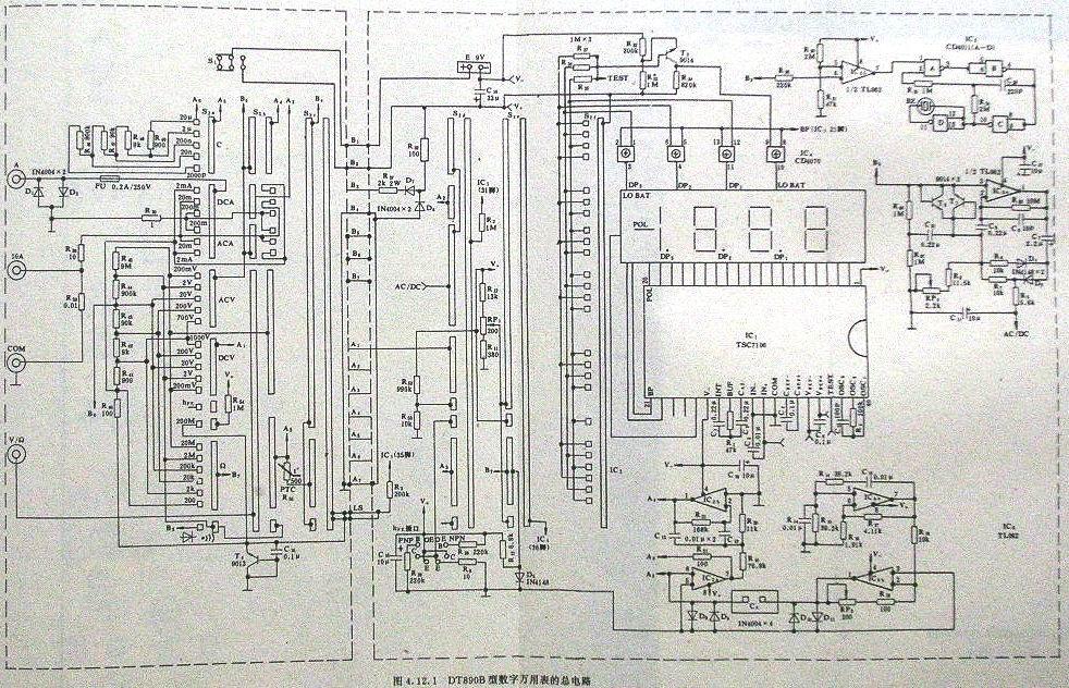 Dt890b мультиметр схема
