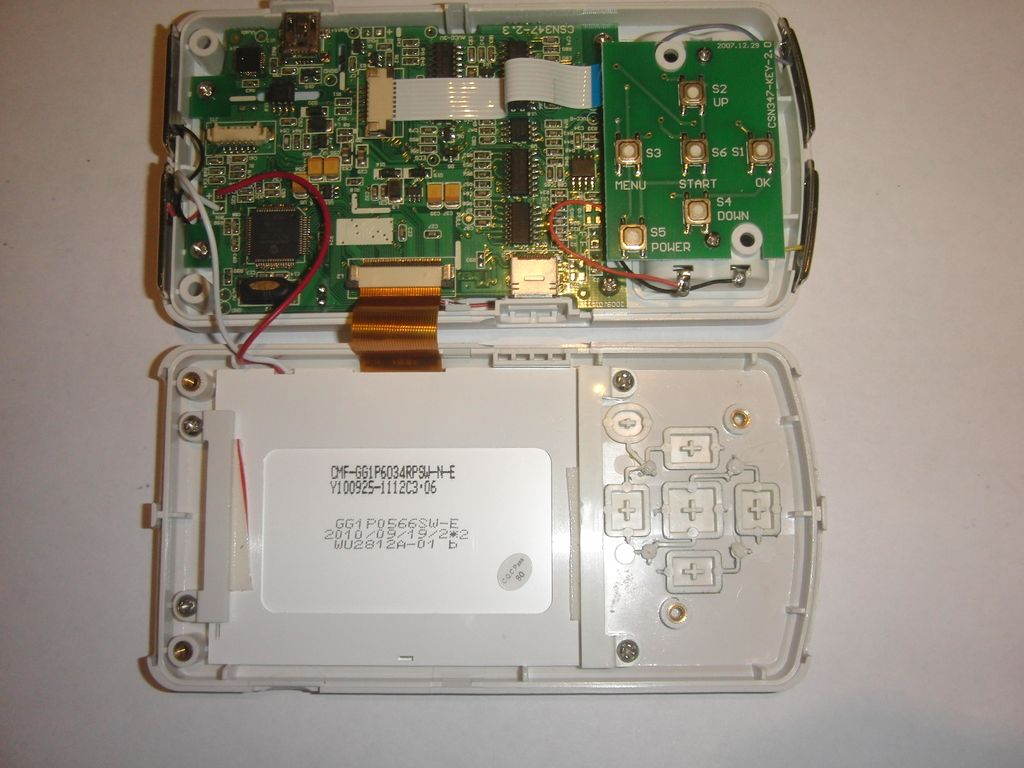 Кардиомонитор MD100A1  со снятой крышкой