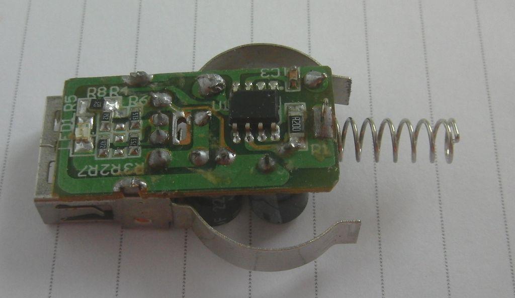 Плата F8Z445 со стороны микросхемы