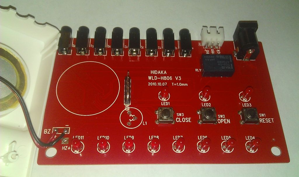 Плата контроллера WLD-806, сторона 2