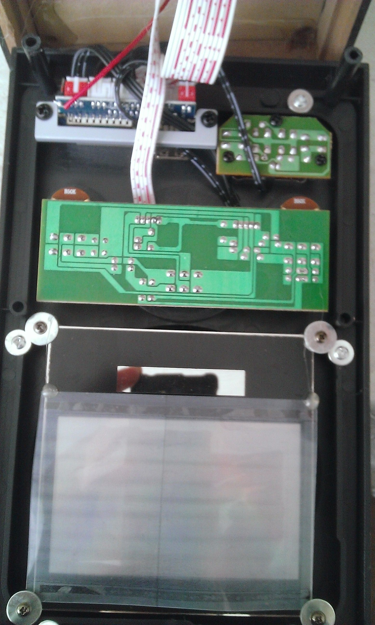 Передняя панель и рассеивающий экран
