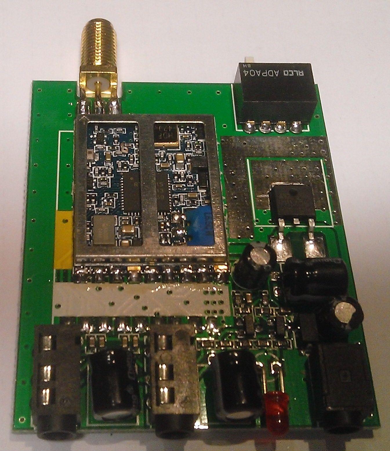 Приемник 7058R со снятым корпусом