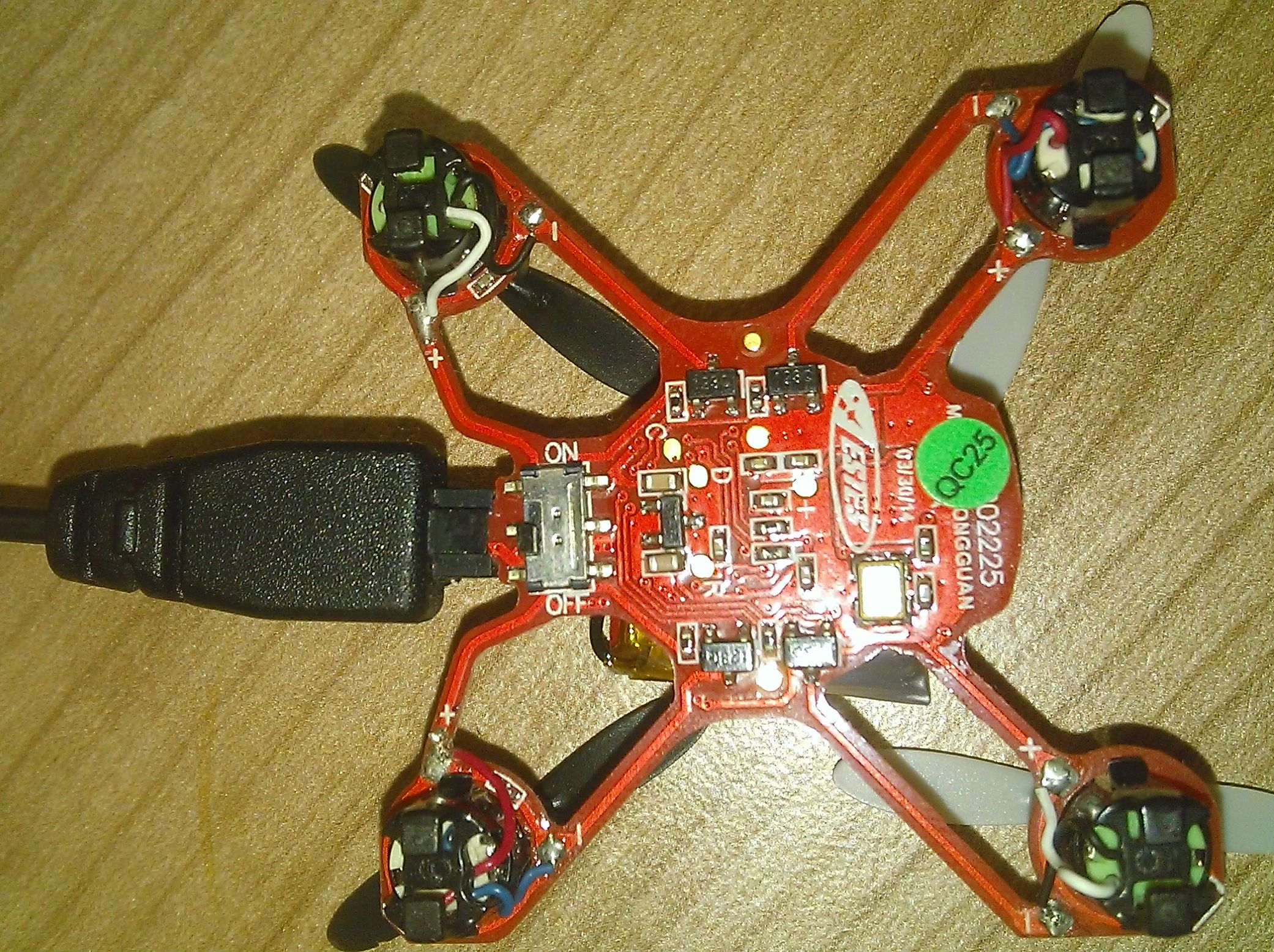 Квадрокоптер  Hubsan Nano Q4 , нижняя стороны платы