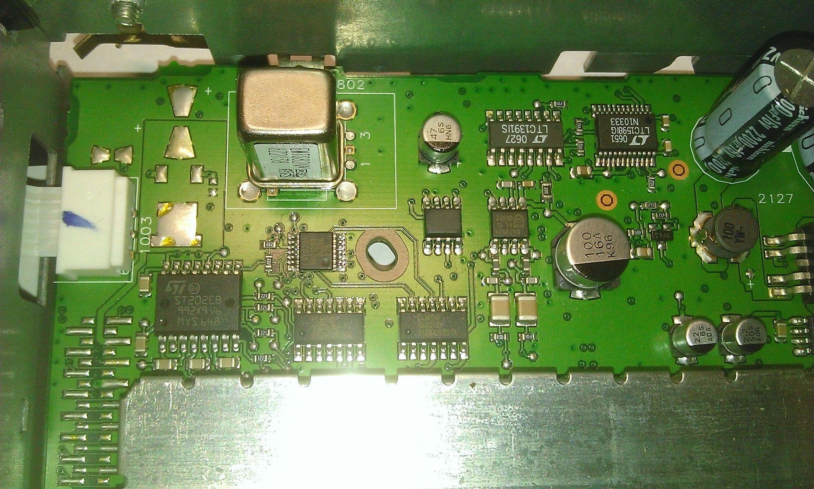 Навигационный блок GPS MK4 - фрагмент основной платы