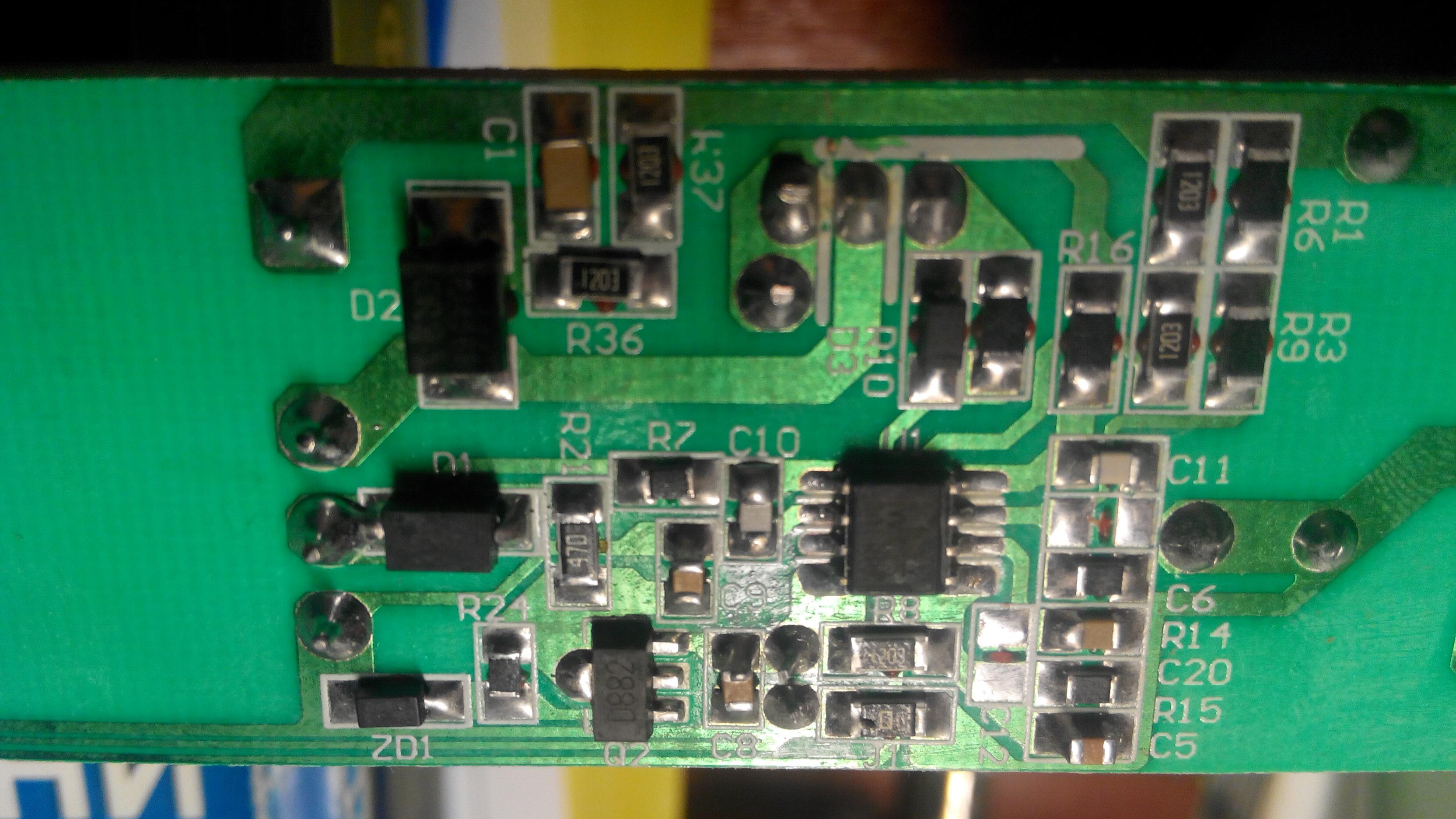 LED-драйвер Arlight, фрагмент платы низковольтной части