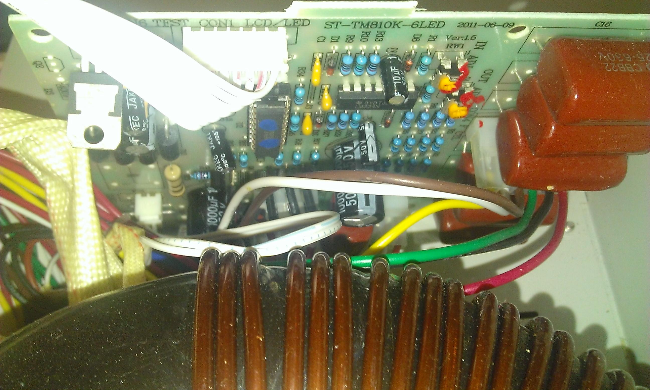 Стабилизатор напряжения АСН - основная плата контроллера со стороны компонентов
