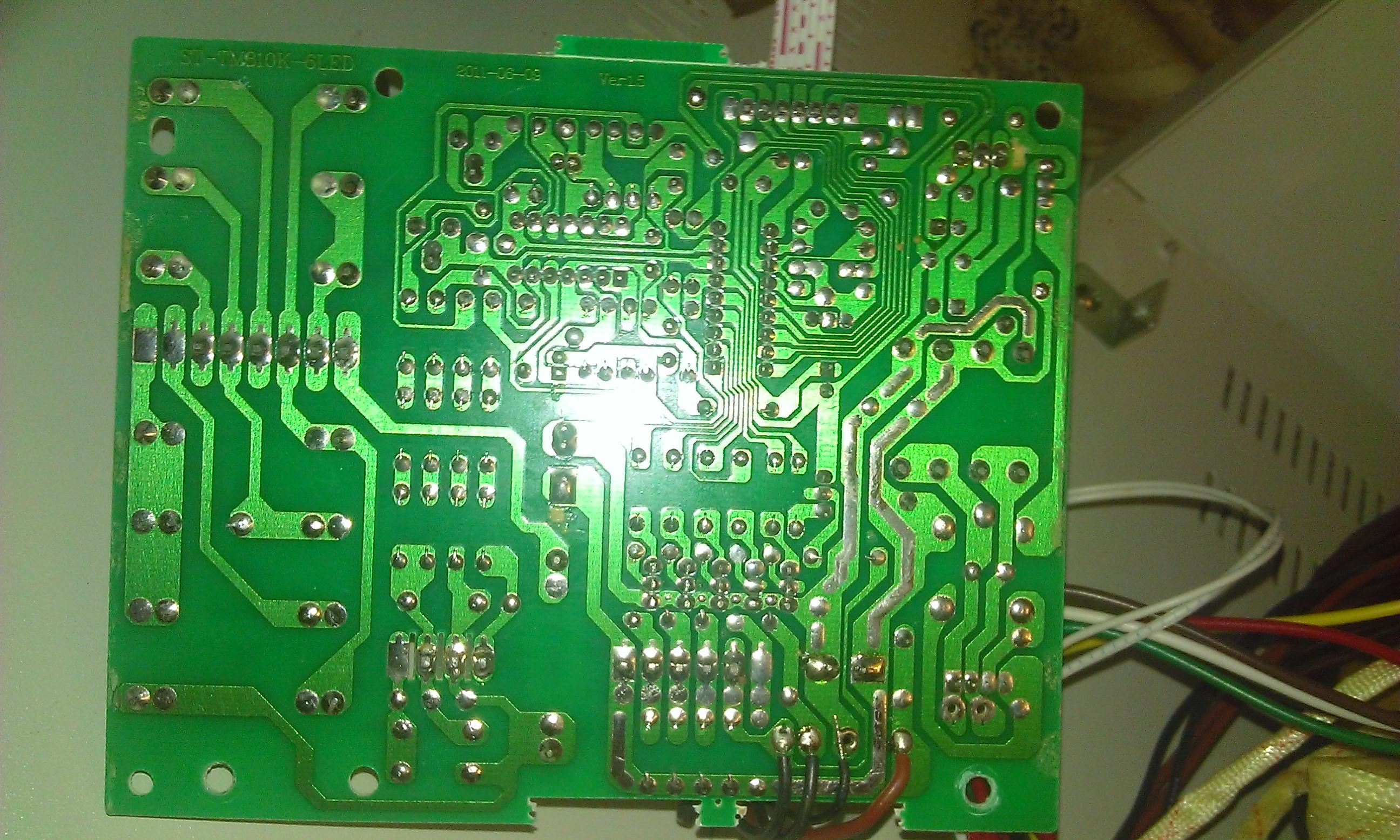 Стабилизатор напряжения АСН - основная плата контроллера со стороны монтажа