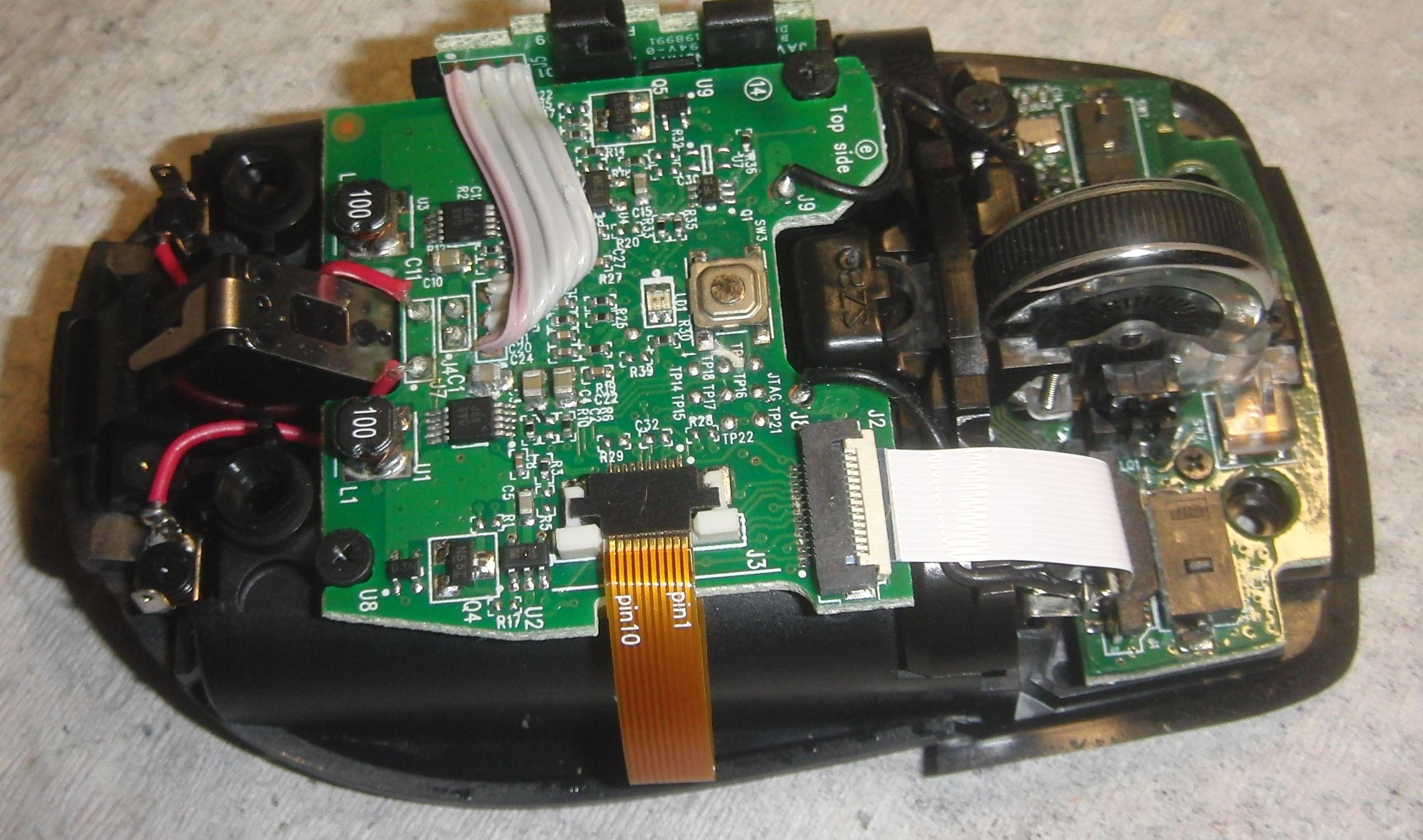 Anywhere Mouse MX со снятой крышкой