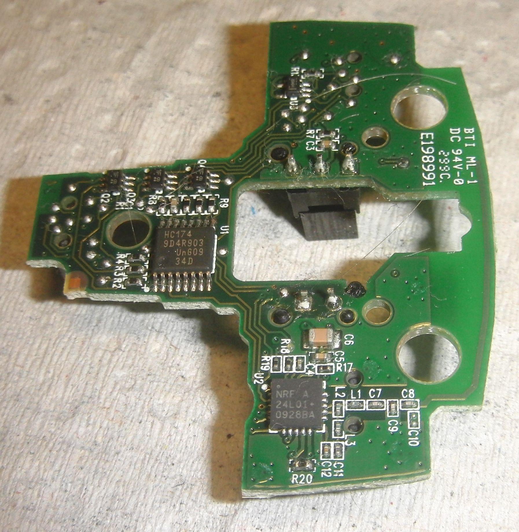 Anywhere Mouse MX - плата передатчика и кнопок