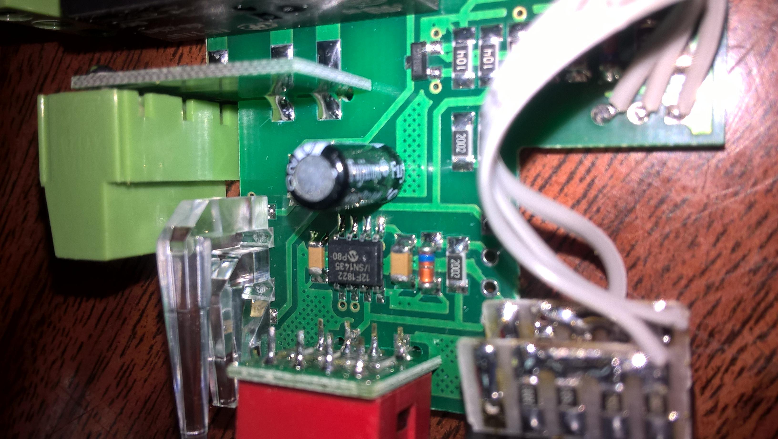 Реле времени РВО - вид на микроконтроллер