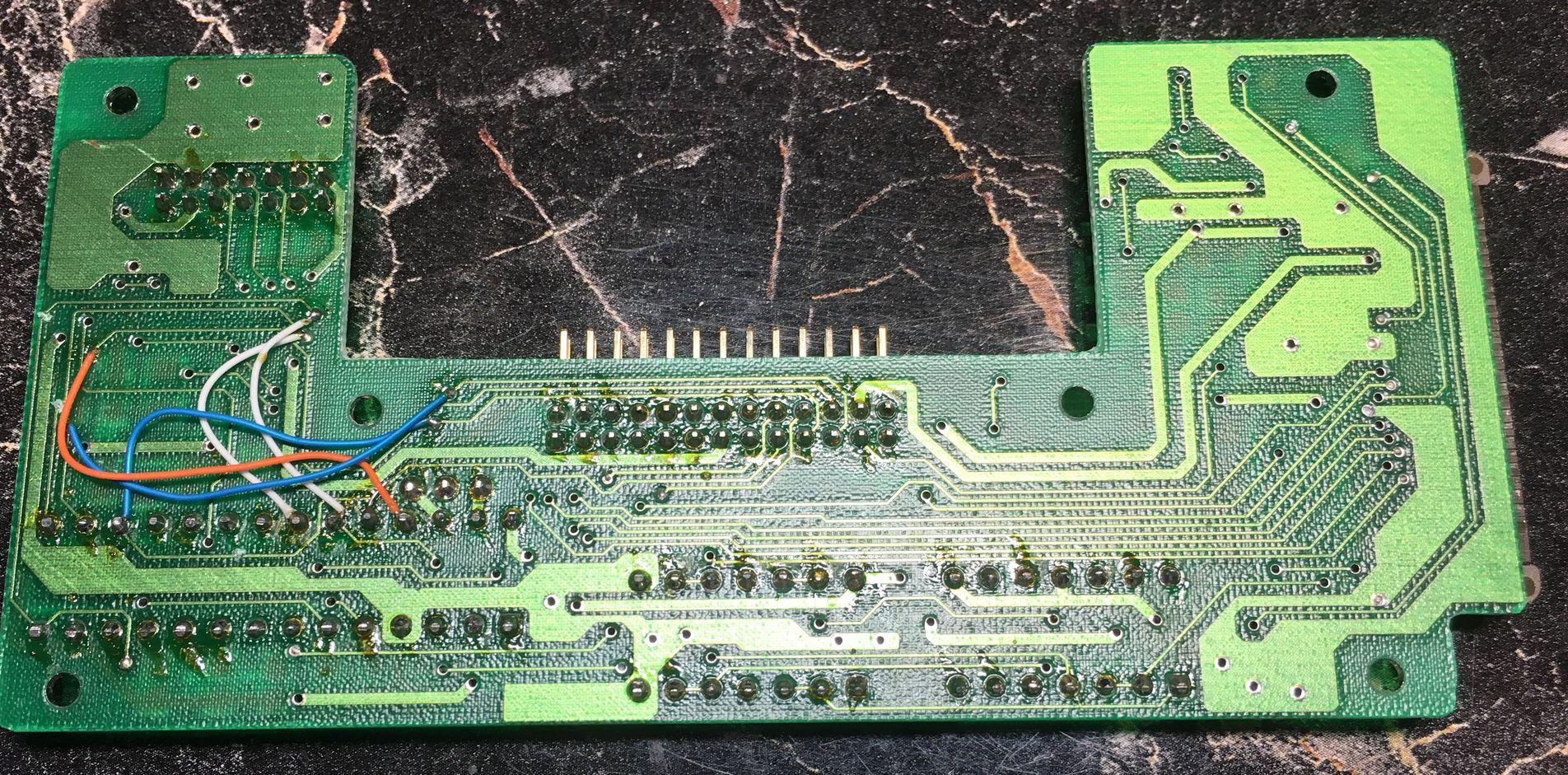 BECKER CD-522, входная плата с обратной стороны