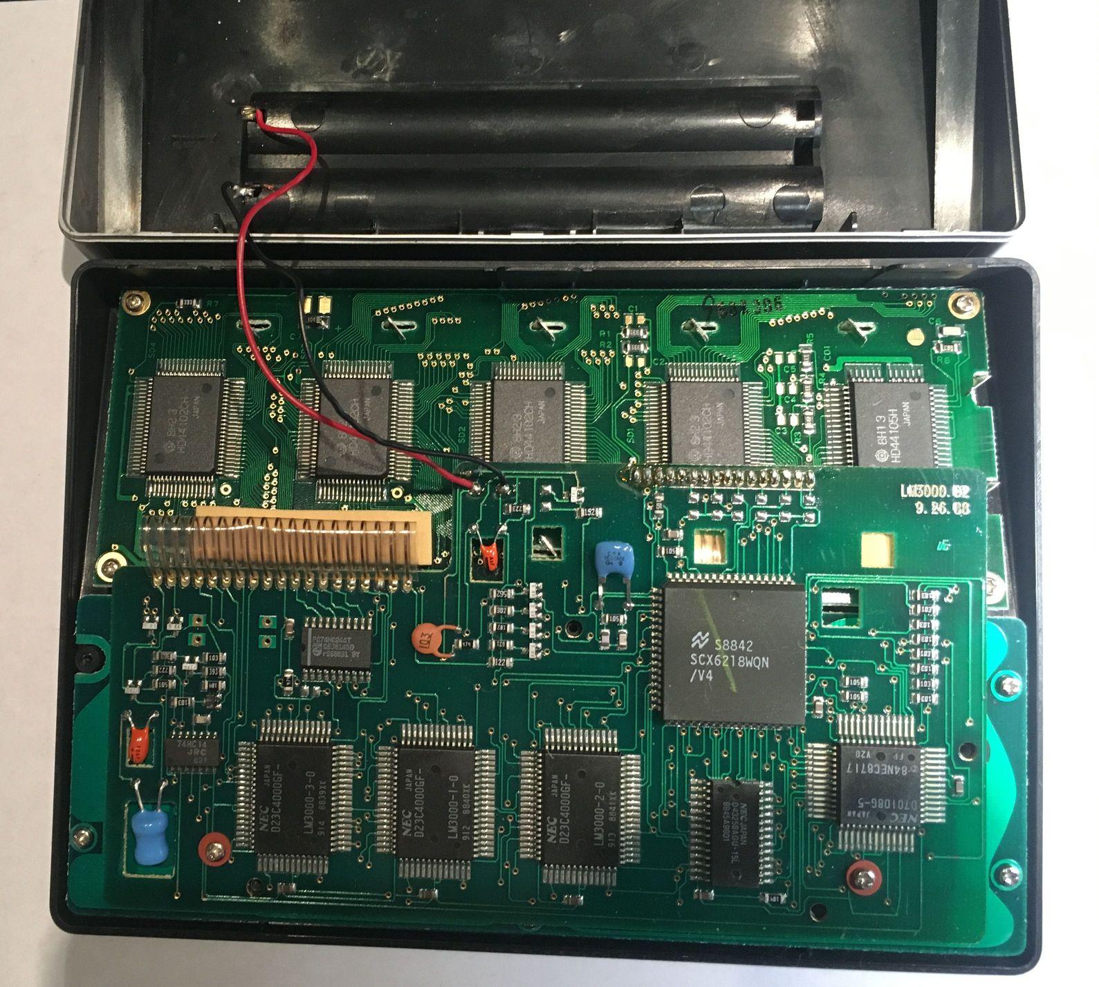 Language Master 3000, со снятой крышкой