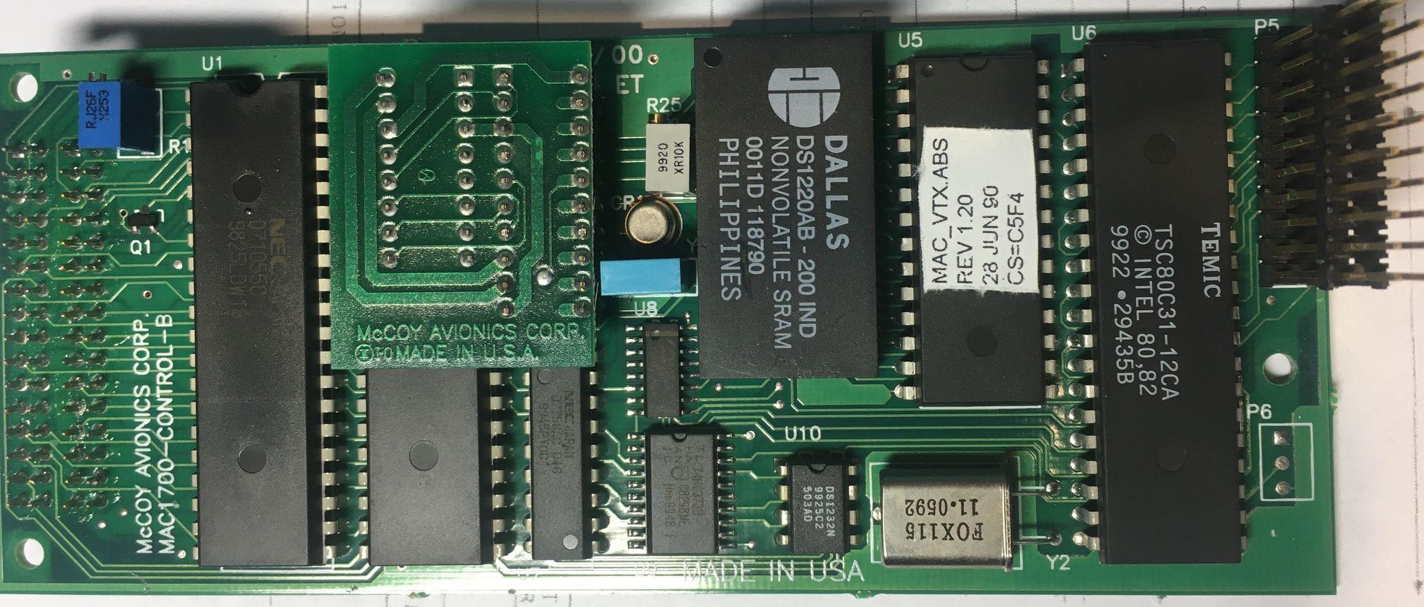 MAC1700 средняя плата со стороны компонентов